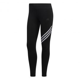 ADIDAS leggings running 7/8 3 stripes nero donna
