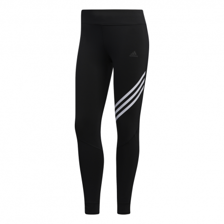ADIDAS leggings running 7/8 3 stripes nero donna