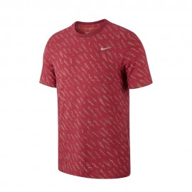 Nike Maglia Running Dry Burnout Noble Rosso Laser Uomo