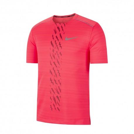 Nike Maglia Running Dry Miler Edge Gx Rosso Uomo
