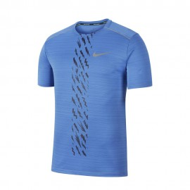 Nike Maglia Running Dry Miler Edge Gx Blu Uomo