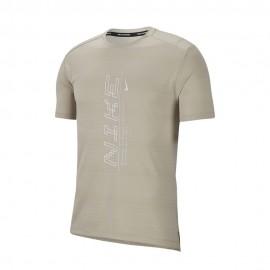 Nike Maglia Running Dry Miler Ff String Bianco Uomo