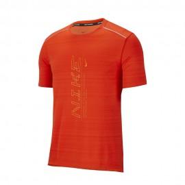Nike Maglia Running Dry Miler Ff Team Arancio Uomo