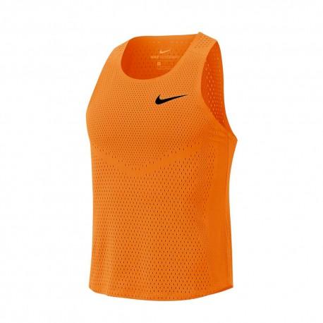 Nike Canotta Running Aeroswift Total Arancio Nero Uomo