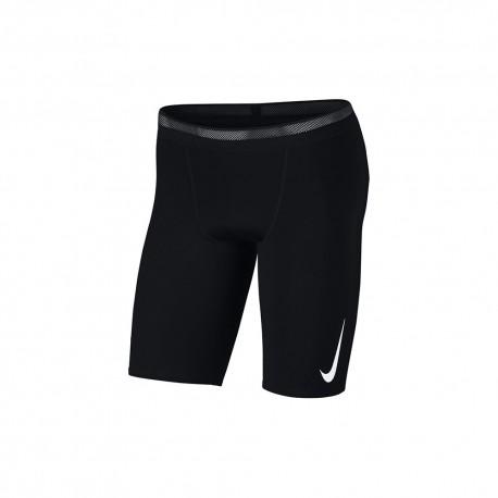 Nike Short 3/4 Running Aroswft Nero Bianco Uomo