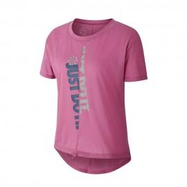 Nike Maglia Running Icnclsh Cosmic Fucsia Blu Donna