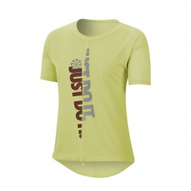 Nike Maglia Running Icnclsh Limelight Team Rosso Donna