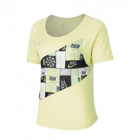 Nike Canotta Running Icnclsh Lime Donna