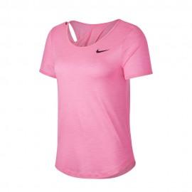 Nike Maglia Running Runway Digital Rosa Htr Nero Donna