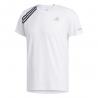 ADIDAS maglia running 3 stripe bianco nero uomo