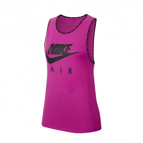Nike Canotta Running Air Fire Rosa (Nero) Donna