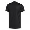 ADIDAS maglia running 3 stripe nero bianco uomo