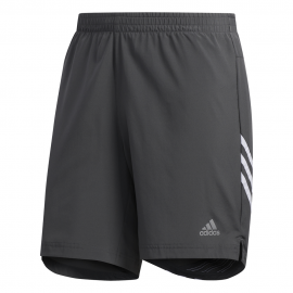 ADIDAS pantaloncini running it 3 stripe grigio bianco uomo