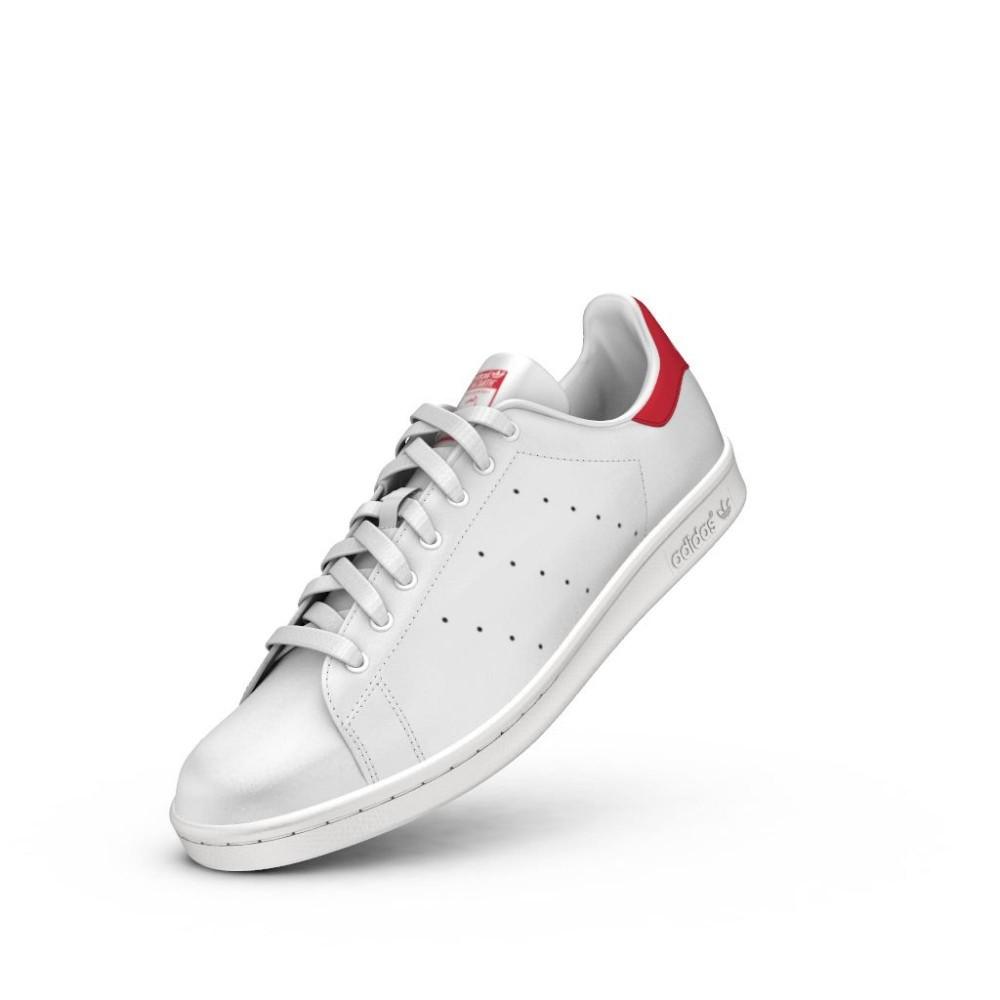 quality design 29aa6 b85bc ... Adidas Stan Smith Lea Bianco Rosso ...