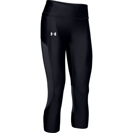 Under Armour Leggings Running Capri Run Speed Stride Nero Donna