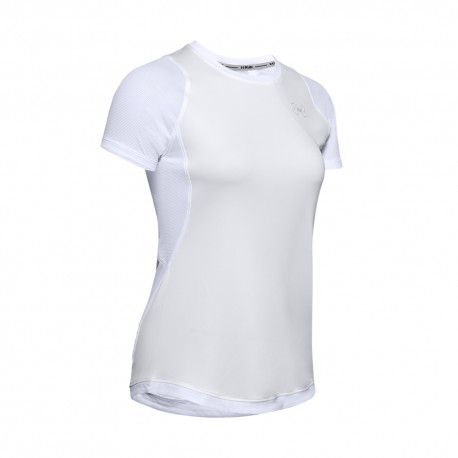 Under Armour Maglia Running Qualifier Iso-Chill Bianco Donna