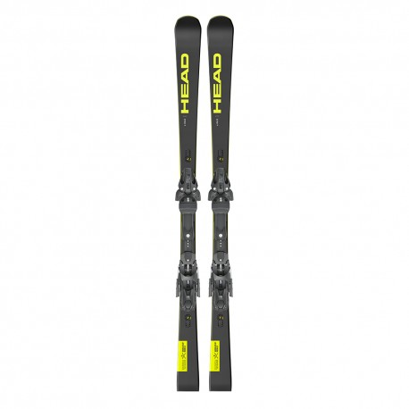 Head Sci Wc Rebels E-Race Sw Rp Evo 14+Freeflex St14 Nero Giallo Uomo