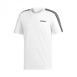 ADIDAS maglietta palestra 3 stripes bianco uomo