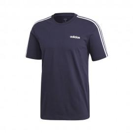 ADIDAS maglietta palestra 3 stripes blu uomo