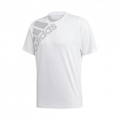 ADIDAS maglietta palestra big logo bianco uomo
