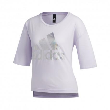 ADIDAS maglietta palestra crop top logo nero donna