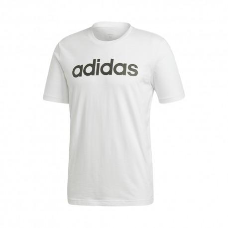 ADIDAS maglietta palestra logo bianco uomo