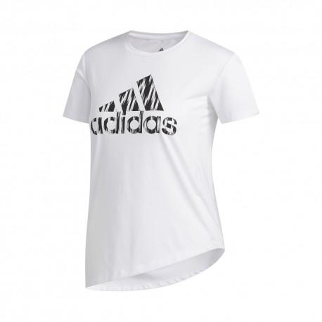 ADIDAS maglietta palestra logo train bianco donna