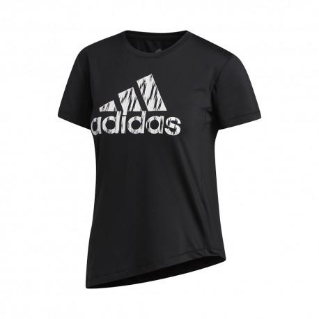 ADIDAS maglietta palestra logo train nero donna