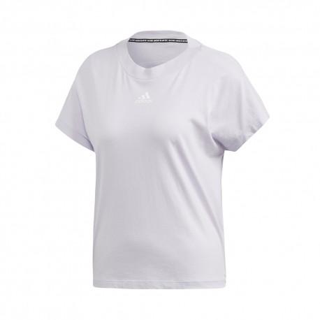 ADIDAS maglietta palestra crop top bianco donna