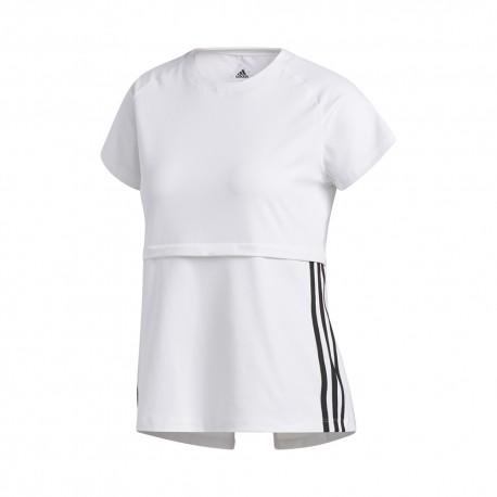 ADIDAS maglietta palestra train bianco donna