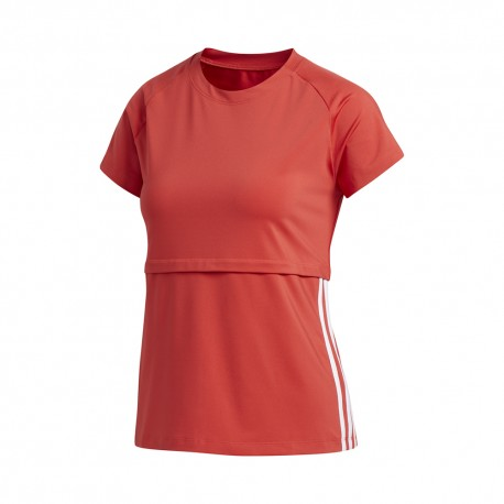 ADIDAS maglietta palestra train rosso donna