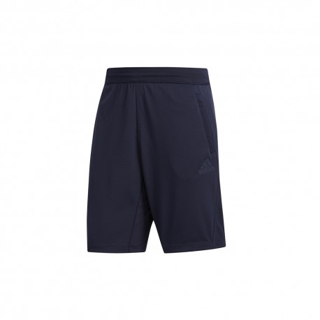 ADIDAS pantaloncino palestra 3 stripes knit blu uomo