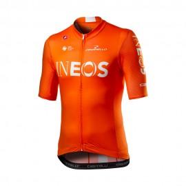 Castelli Maglia Ciclismo Competizione Ineos 2020 Arancio Uomo