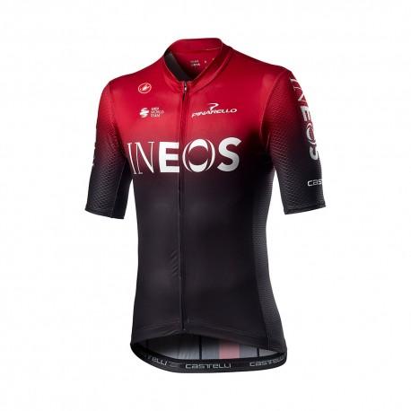 Castelli Maglia Ciclismo Competizione Ineos 2020 Rosso Uomo