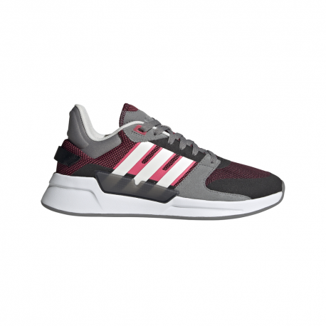 Adidas Sneakers Run90s Bordeaux Bianco Donna