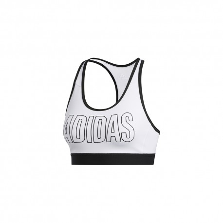 ADIDAS reggiseno sportivo logo bianco donna
