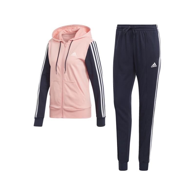 ADIDAS tuta sportiva 3 stripes rosa donna