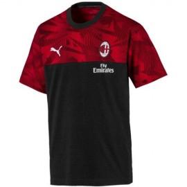 Puma Maglia Calcio Milan Travel Nero Rosso Uomo