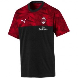 Puma Felpa Calcio Milan Poly Fz Nero Red Bambino