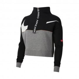 Nike Felpa Palestra Zip Pro Nero Donna