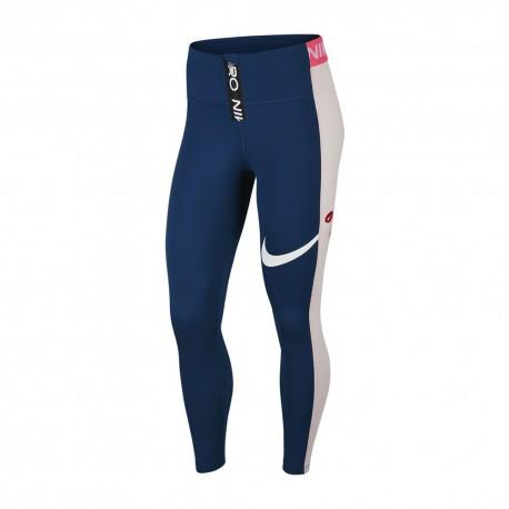 Nike Leggings Sportivi Bicolor Pro Petrolio Donna