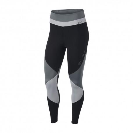 Nike Leggings Sportivi Color Block Grigio Donna