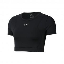 Nike Maglietta Palestra Crop Top Aereoadpt Nero Donna