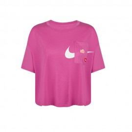 Nike Maglietta Palestra Crop Top Pro Rosa Donna