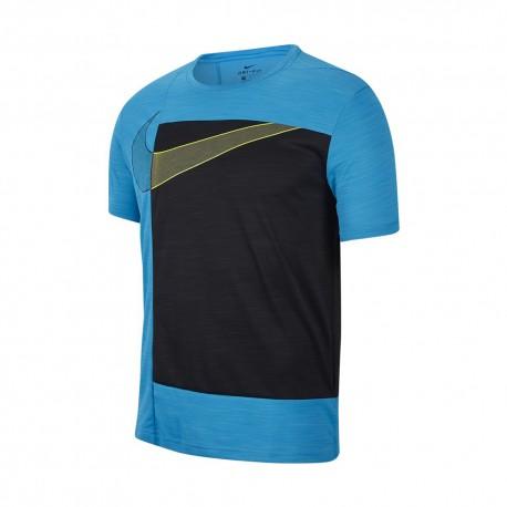 Nike Maglietta Palestra Gsp Sport Clash Azzurro Uomo