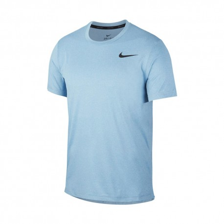 Nike Maglietta Palestra Hpr Dry Celeste Uomo