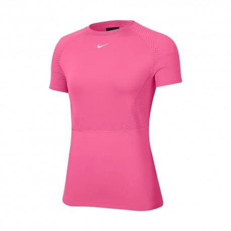 Nike Maglietta Palestra Luxe Fucsia Donna