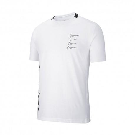 Nike Maglietta Palestra Sport Clash Bianco Nero Uomo