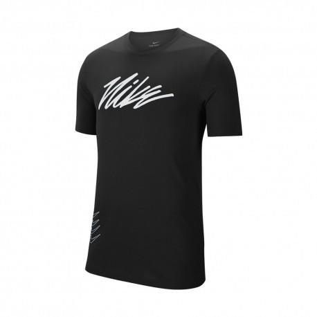 Nike Maglietta Palestra Sport Clash Nero Uomo