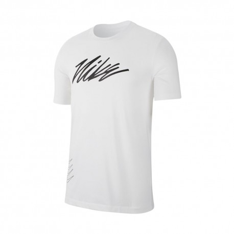 Nike Maglietta Palestra Sport Clash Bianco Uomo